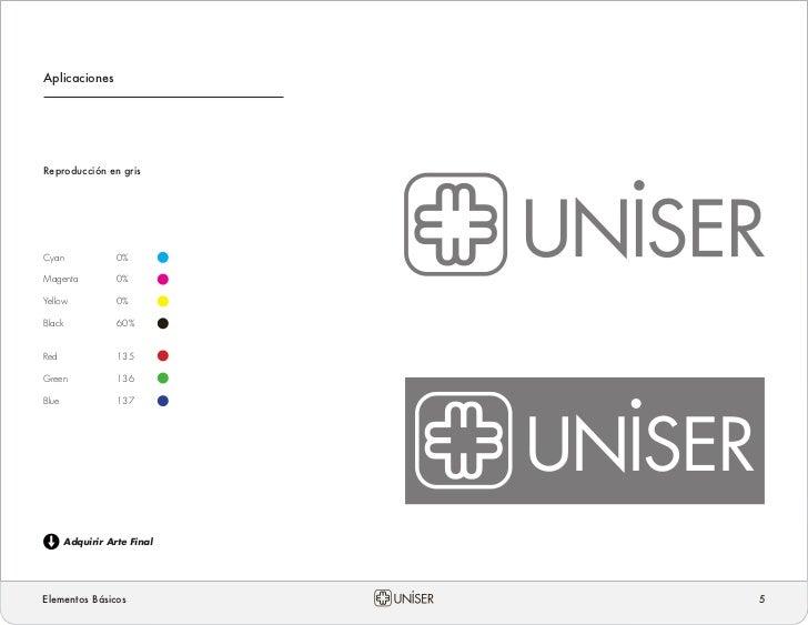 Manual de Identidad Corporativa UNISER