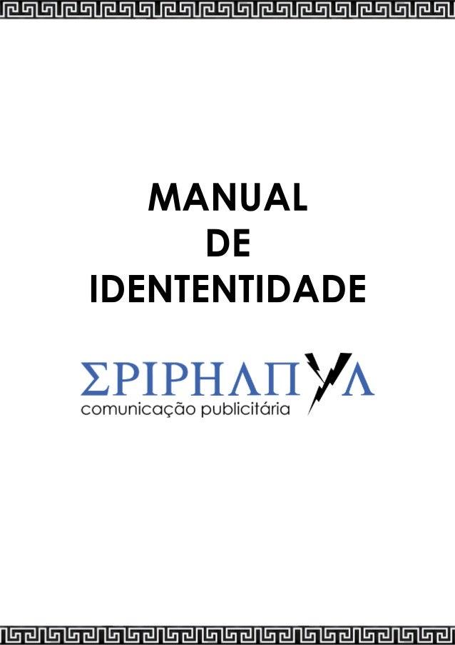 MANUAL DE IDENTENTIDADE