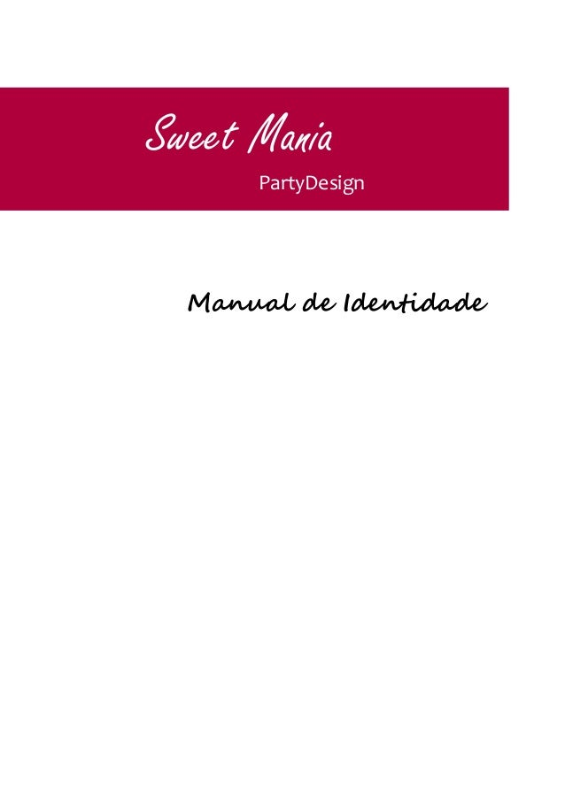 Manual de Identidade Sweet Mania PartyDesign