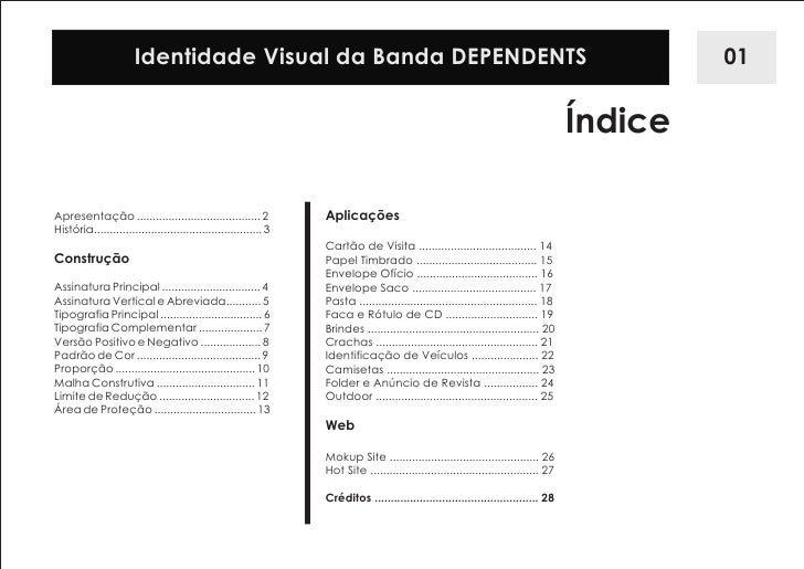 Manual de identidade visual banda dependents