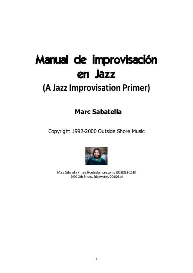 Manual de improvisacion en jazz marc sabatella