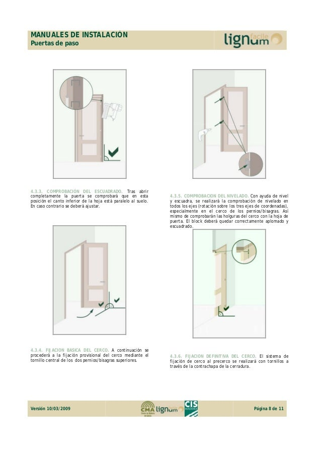 Manual De Instalaci N Puerta De Paso