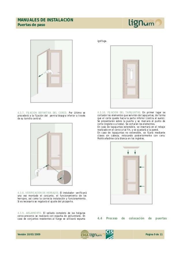 Manual de instalación puerta de paso