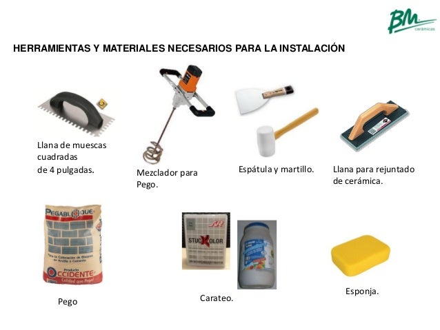 Manual De Instalacion Para Ceramicas Bm Ceramihogar