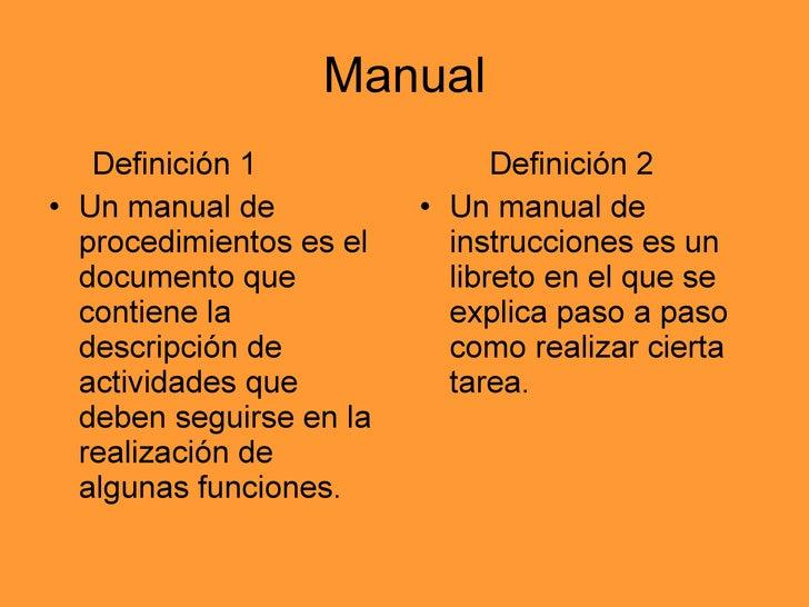 manual de instrucciones rh es slideshare net manual de usuario de un sistema de informacion definicion definicion de manual de usuario en programacion