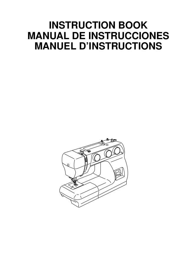 INSTRUCTION BOOK MANUAL DE INSTRUCCIONES MANUEL D'INSTRUCTIONS