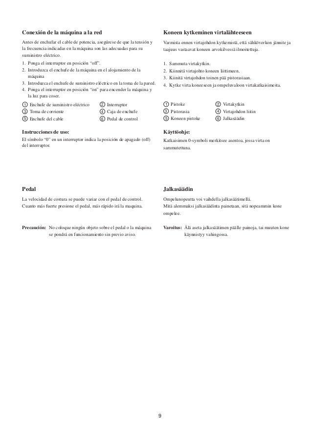 Manual de instrucciones de maquina 415 JANOME, maquina de coser 415