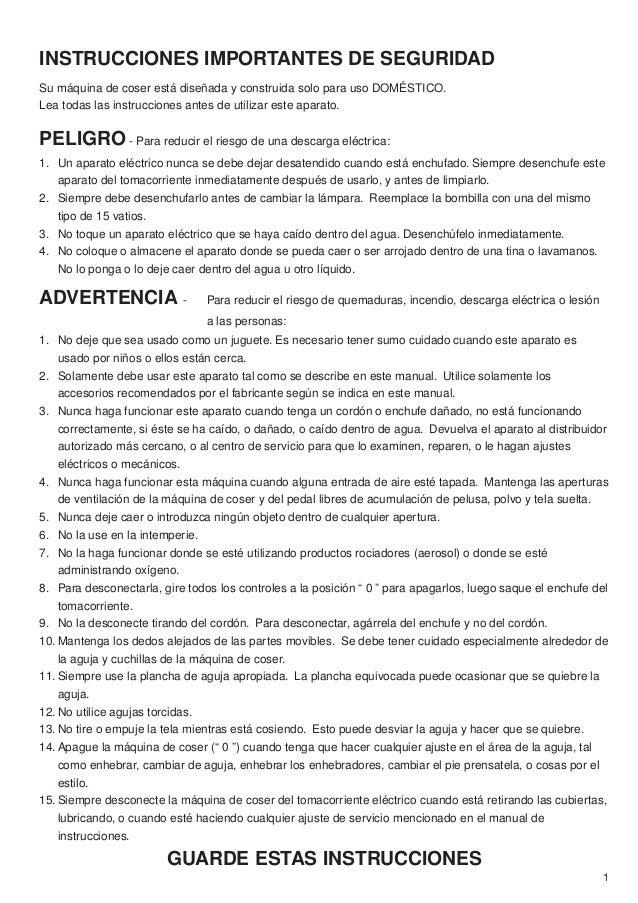 Manual de instrucciones maquina 8002D Janome, maquina overlock