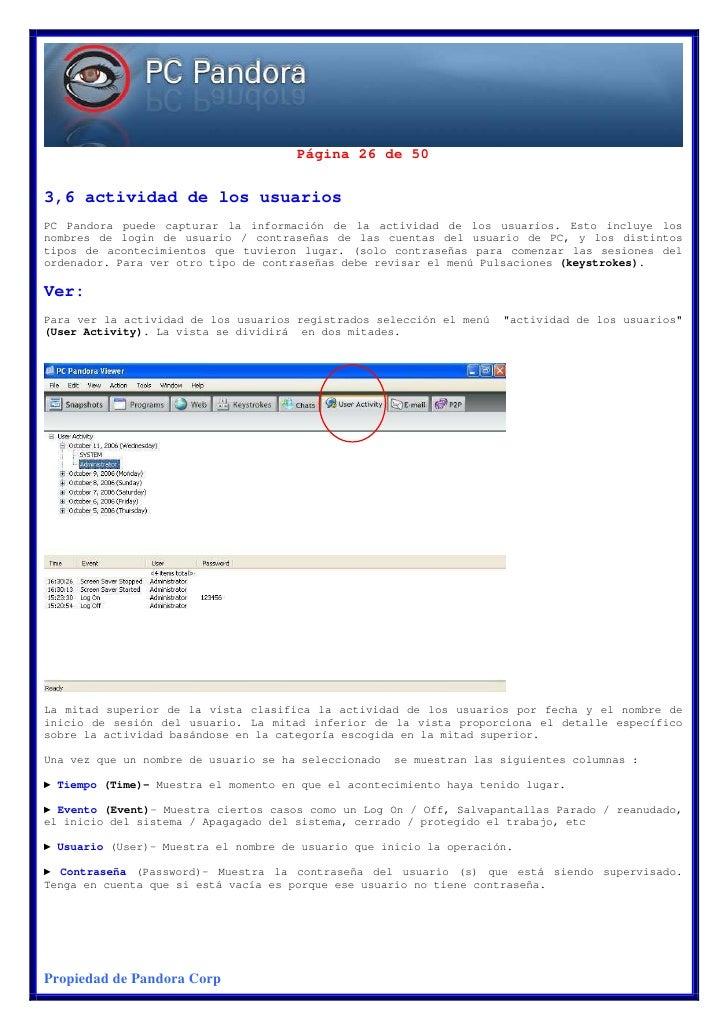 Manual de Instrucciones en Español de Pc Pandora