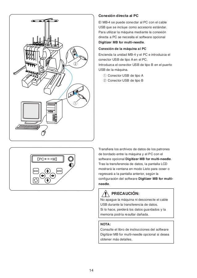 Manual de instrucciones mb 4 JANOME, maquinas bordadoras