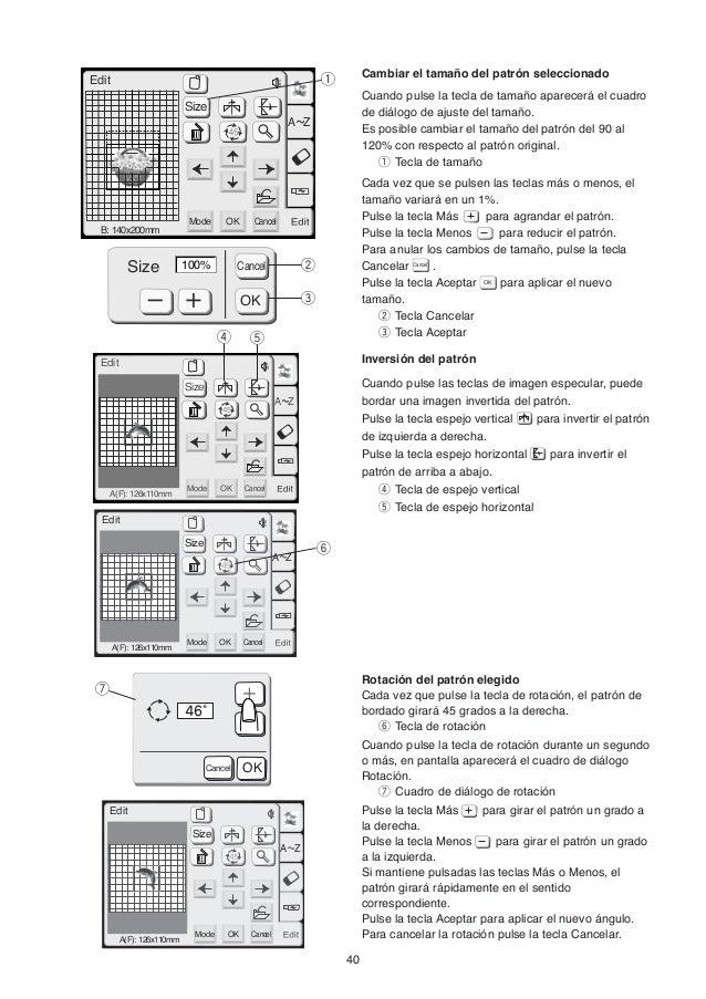 Manual de instrucciones de Bordadora MC350E JANOME
