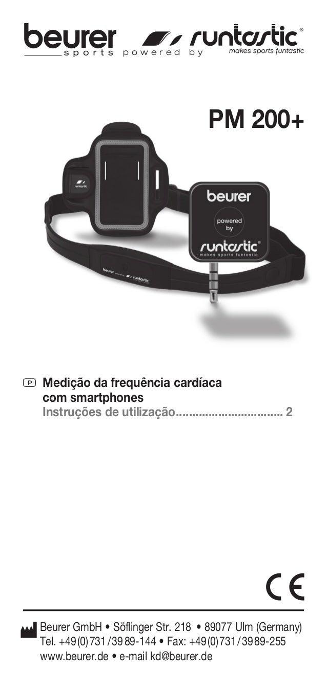 PM 200+  p o w e r e d b y  P Medição da frequência cardíaca  com smartphones  Instruções de utilização .....................