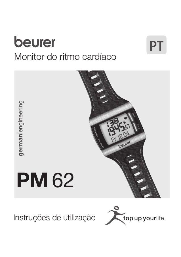 Monitor do ritmo cardíaco  german|engineering  PM 62  Instruções de utilização  PT