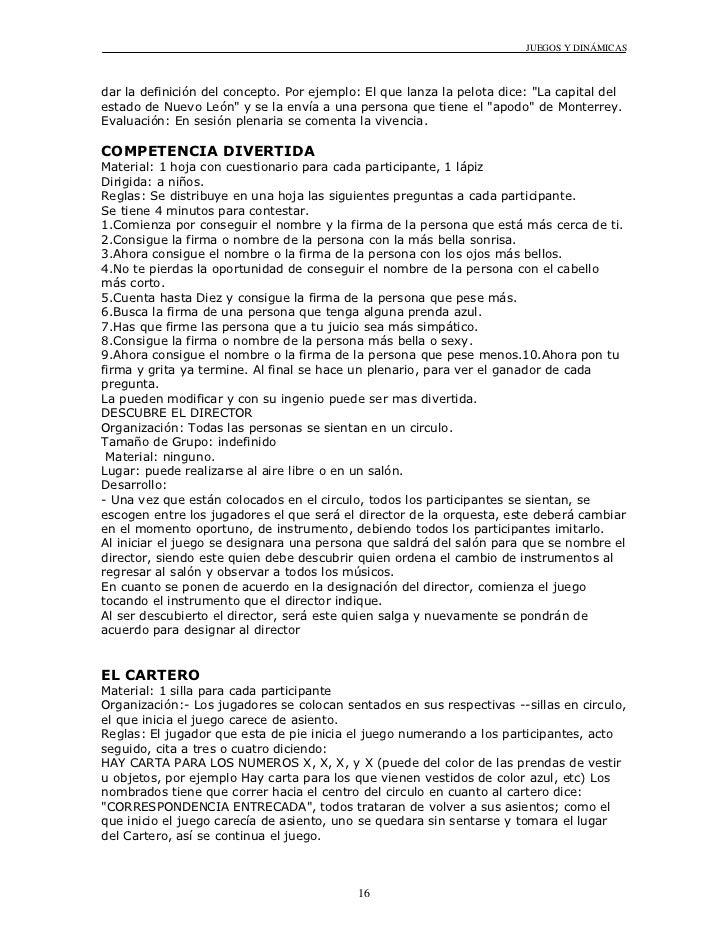 Dinamica De Grupo Ejemplos Para Niños Colección De Ejemplo