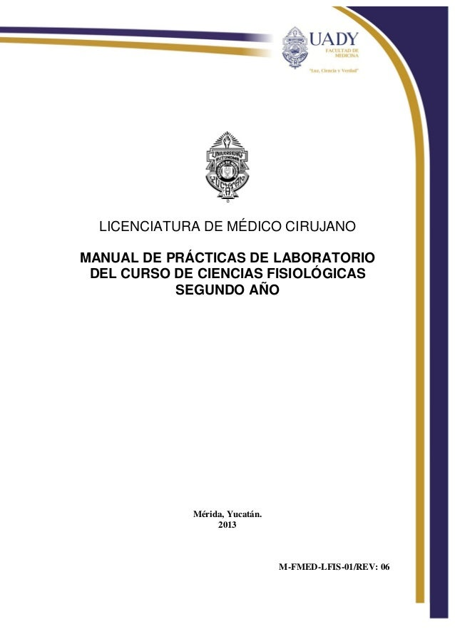 Manual de laboratorio fisiología. medicina .2013