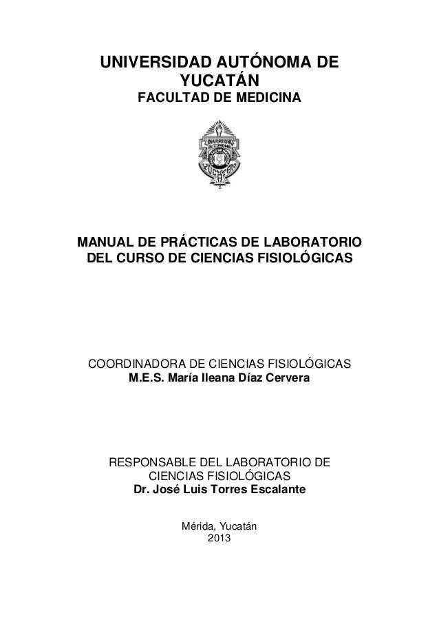 Manual de laboratorio fisiología. medicina .2013