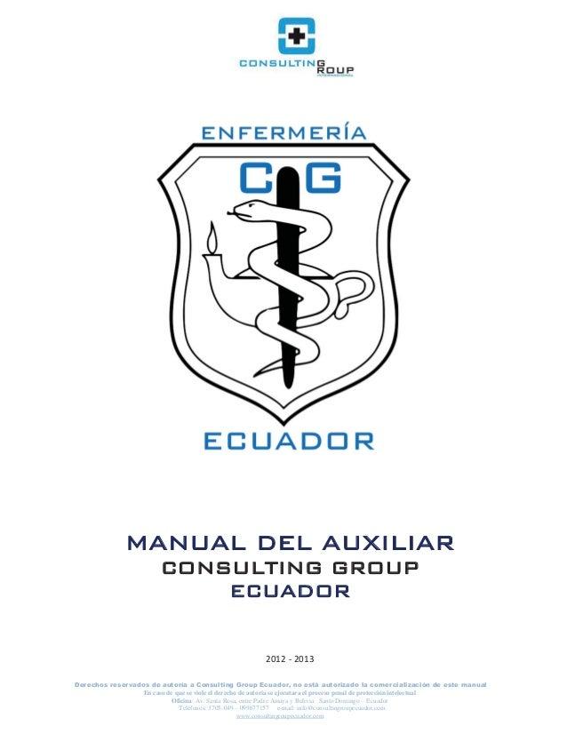 Manual del auxiliar de enfermeria
