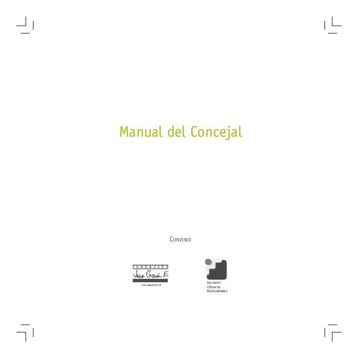 Manual del Concejal       CONVENIO                  Asociación                  Chilena de                  Municipalidades