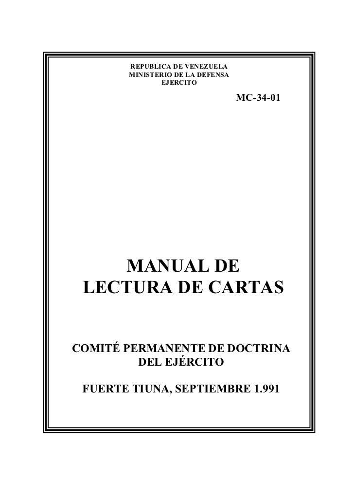 REPUBLICA DE VENEZUELA        MINISTERIO DE LA DEFENSA               EJERCITO                                   MC-34-01  ...