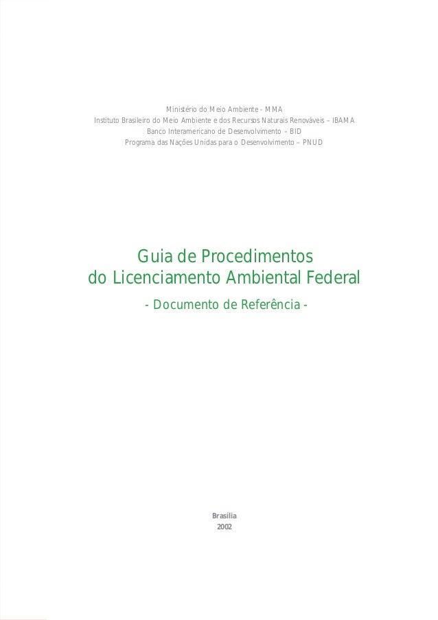 Ministério do Meio Ambiente - MMAInstituto Brasileiro do Meio Ambiente e dos Recursos Naturais Renováveis – IBAMA         ...