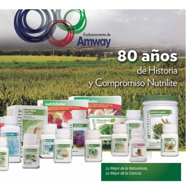 Manual de linea de productos Nutrilite Amway 2014