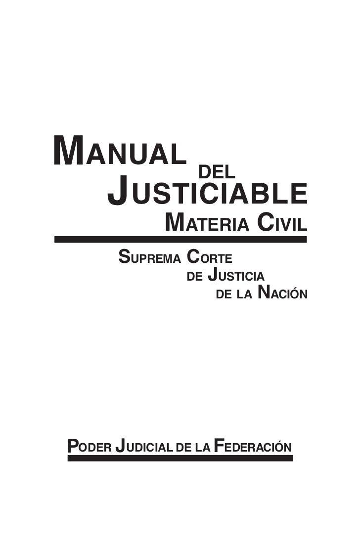 Manualdeljusticiable materiacivil