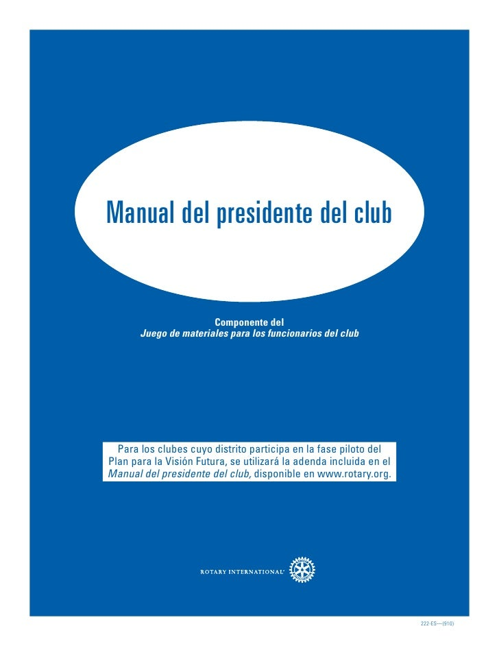Manual del presidente del club                       Componente del       Juego de materiales para los funcionarios del cl...