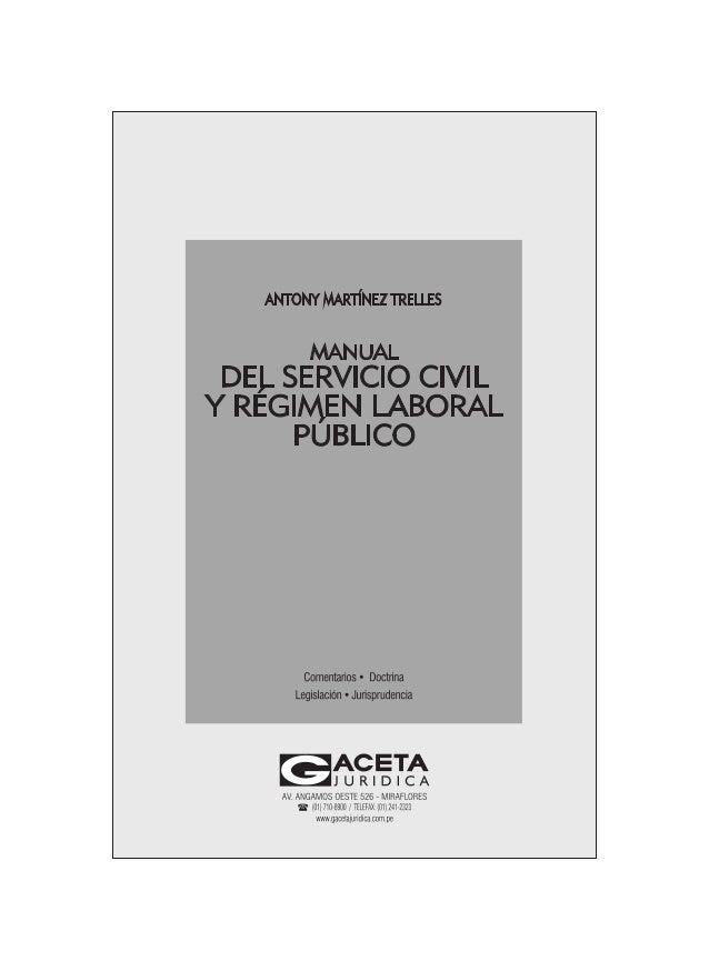 5 PRESENTACIÓN Uno de los temas recientemente atendidos en el Sector Público es el relativo al régimen laboral del persona...