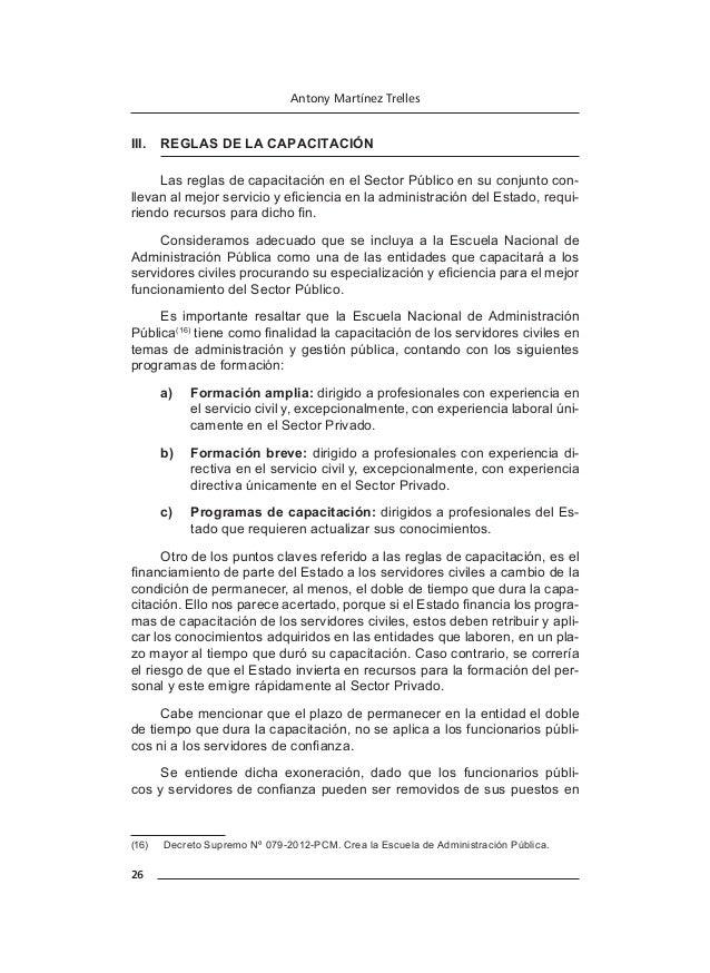 30 Antony Martínez Trelles b)  Se realiza en función de factores o metas mensurables y verificables. c)  El servidor deb...