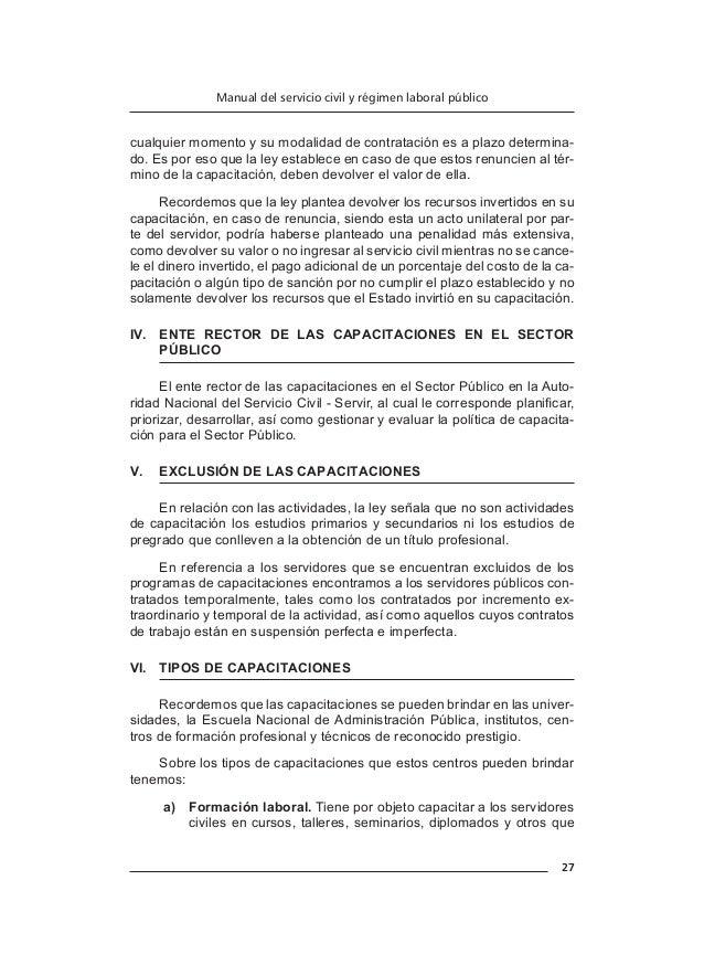 31 Manual del servicio civil y régimen laboral público a)  Personal de rendimiento distinguido. b)  Personal de buen ren...