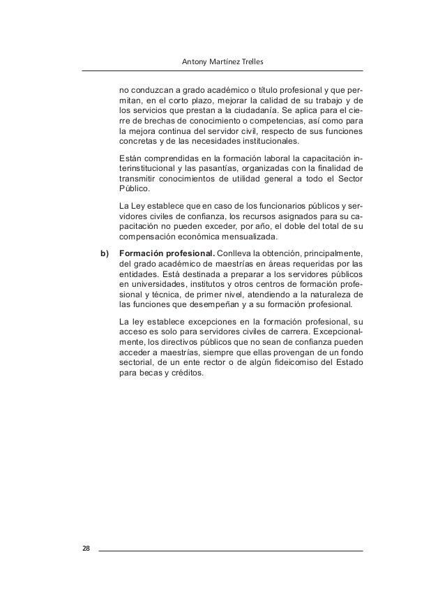 33 CAPÍTULO VI LAS COMPENSACIONES EN EL SERVICIO CIVIL I. LA COMPENSACIÓN La ley establece que la compensación es el conj...