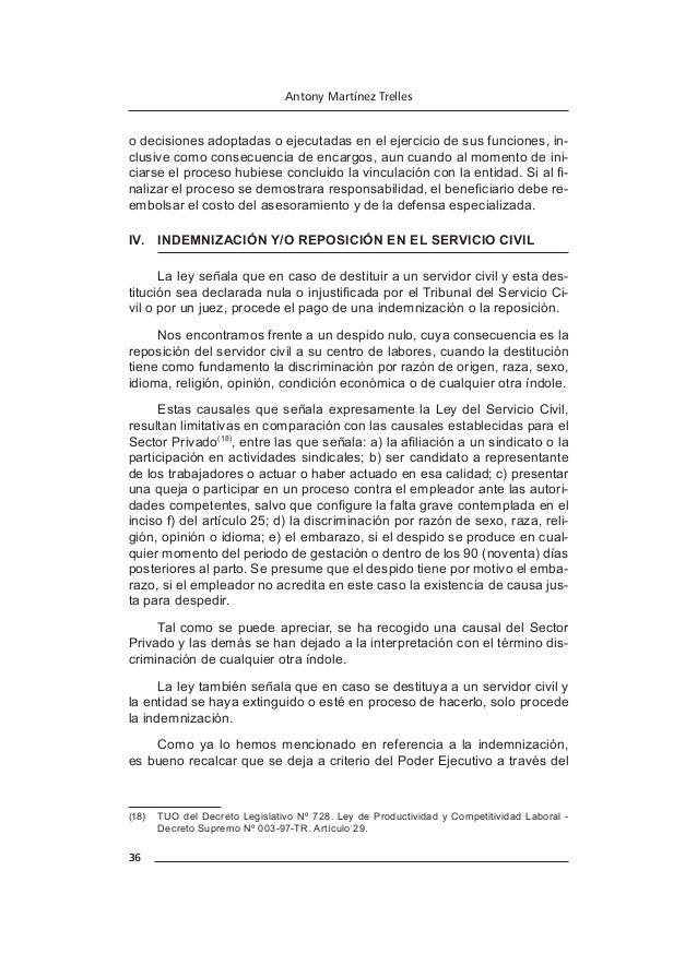 41 Manual del servicio civil y régimen laboral público IV. PLAZO DE VIGENCIA DE LOS ACUERDOS EN LA NEGOCIACIÓN COLECTIVA ...
