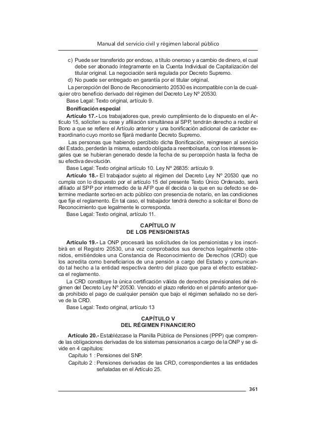Manual del servicio civil y régimen laboral publico