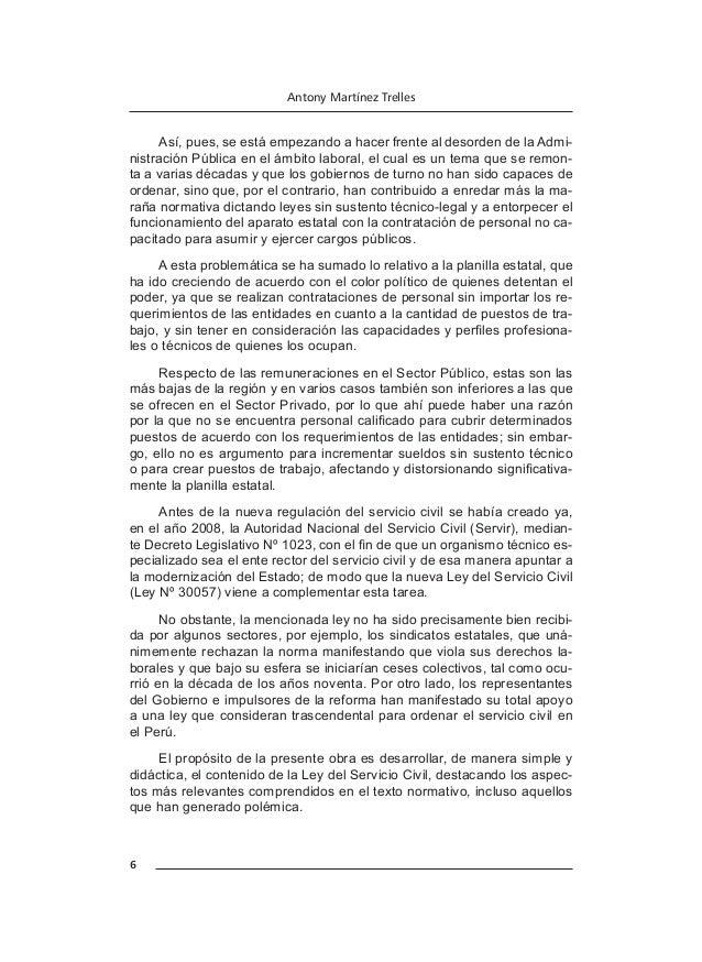 7 Manual del servicio civil y régimen laboral público Para la elaboración del presente trabajo se ha tomado como base la v...