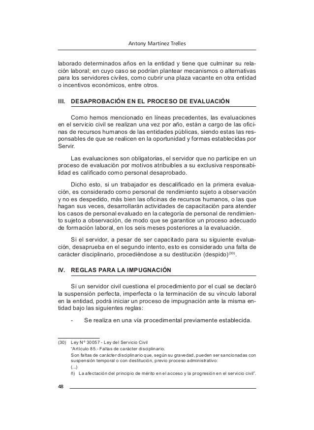 54 Antony Martínez Trelles a)  Tener la nacionalidad peruana, en los casos en que la natura- leza del puesto lo exija, co...