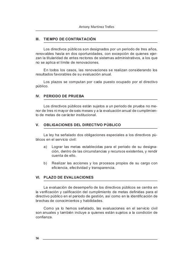 64 Antony Martínez Trelles Los contratos a plazo fijo requieren periodo de prueba y proceden para la ejecución de proyecto...