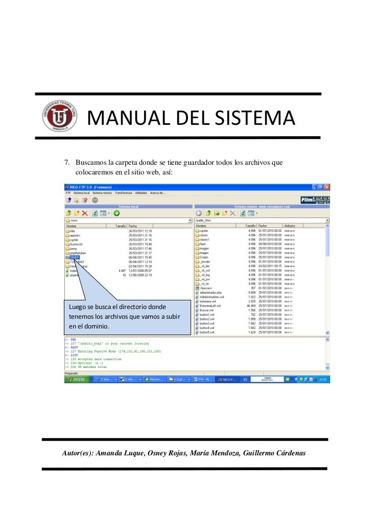 Manual Del Sistema Pagina Web Uft