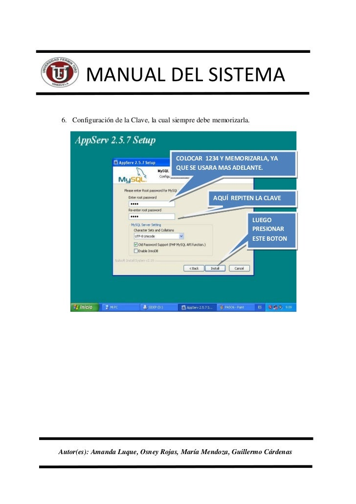 Manual del sistema pagina web uft for Del website