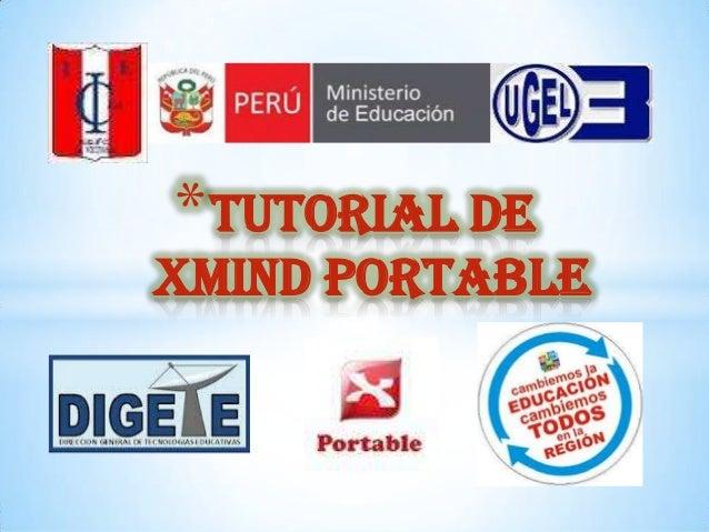 * TUTORIAL DE XMIND PORTABLE