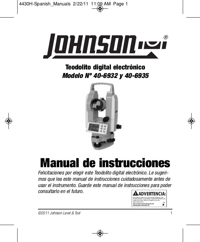 Manual del teodolito espanish