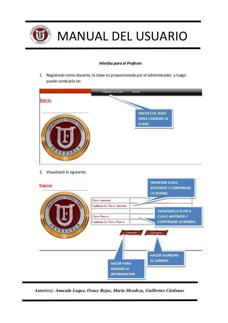 manual del usuario pagina web uft rh es slideshare net ejemplos de manual de usuario corto ejemplo de manual de usuario software