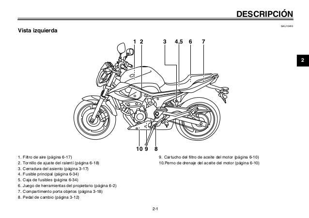 Manual del usuario moto xj6 n
