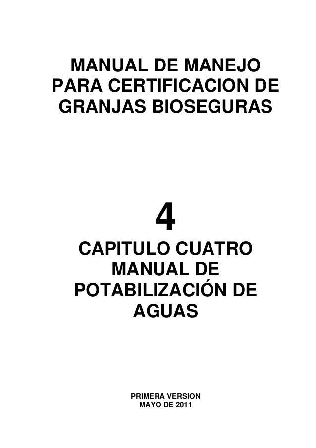 Manual de manejo para certificacion de granjas bioseguras