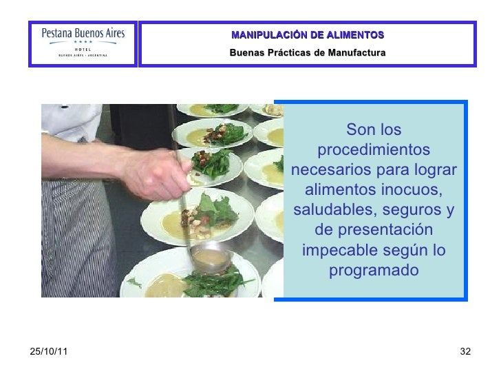 Manual de manipulacion de alimentos Buenas practicas de manipulacion de alimentos