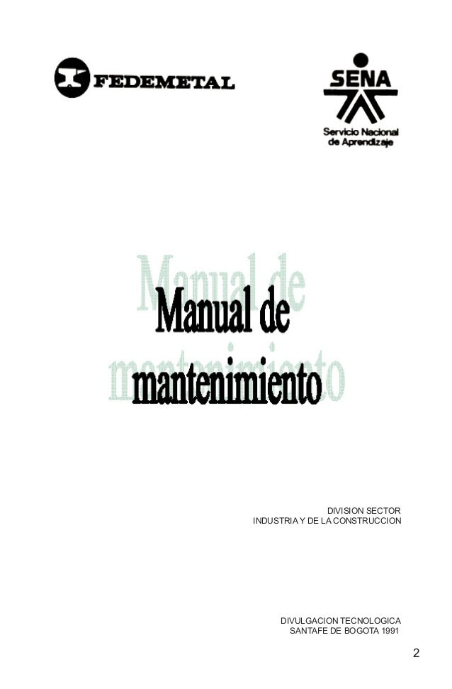 Manual de mantenimiento nuemero 1
