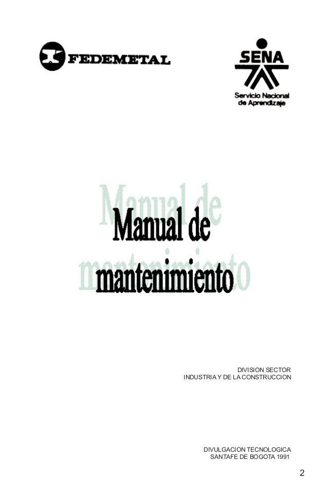 Manual de mantenimiento nuemero 1
