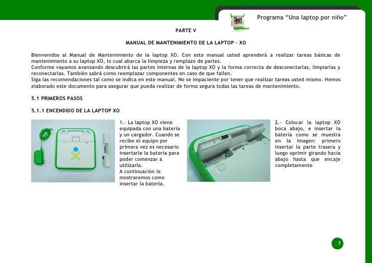"""Programa """"Una laptop por niño""""                                                             PARTE V                        ..."""