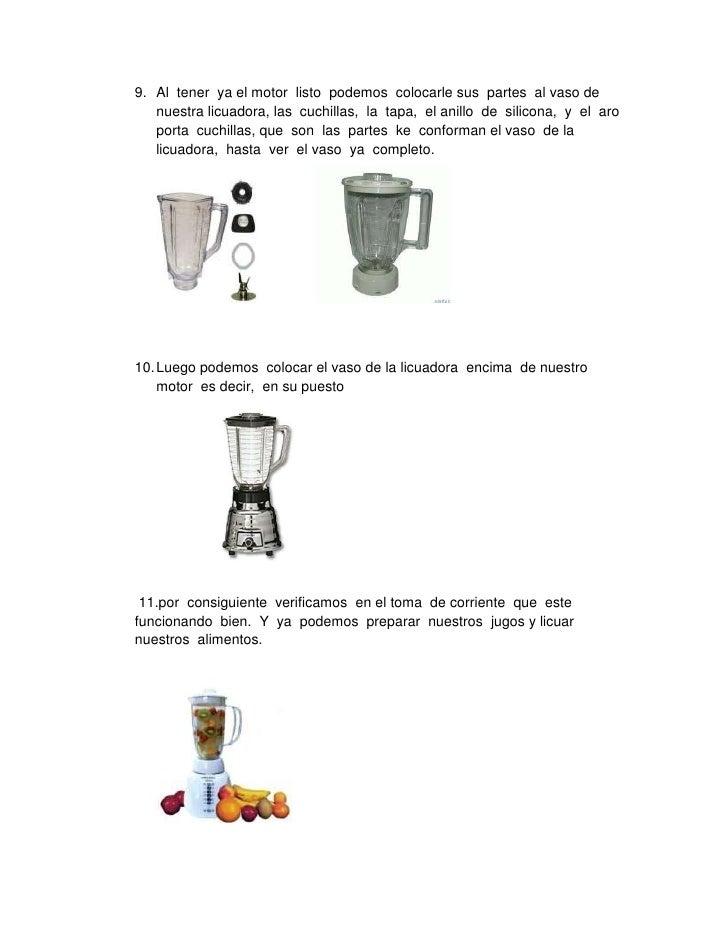 Manual de mantenimiento de una licuadora