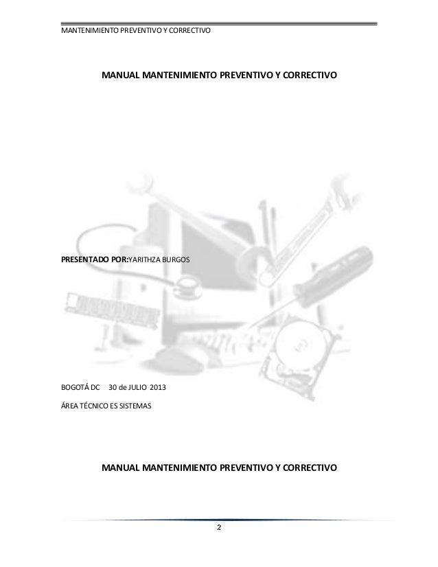 Manual de mantenimiento del computador
