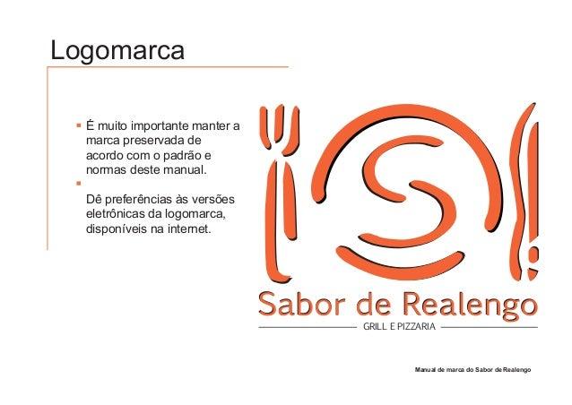 Manual de marca do restaurante sabor de realengo for Manual de restaurante pdf